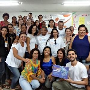 Participantes reunidos no término da formação