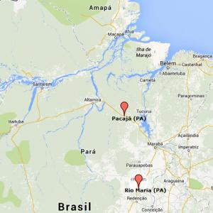 mapa dos municípios - Pará